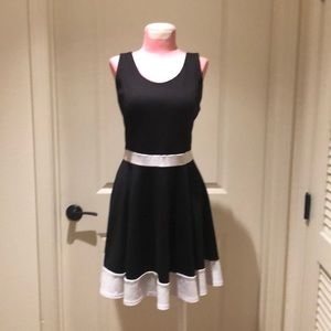 Black and white guess dress